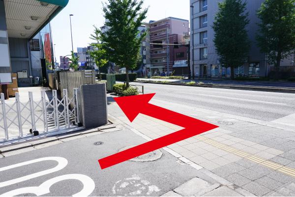川越街道(国道254号)を左折